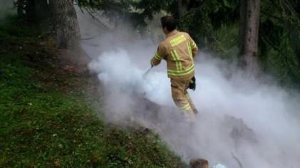 Kleiner Waldbrand Simmering/Nassereith