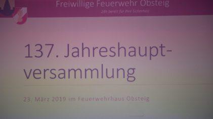137. Jahreshauptversammlung